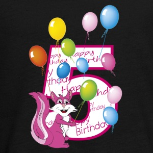 Fifth birthday 5 years squirrel - Teenagers' Premium Longsleeve Shirt