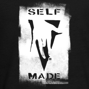 SELF MADE CREW Logo Black-strejke - Teenager premium T-shirt med lange ærmer