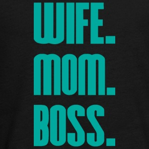 Wife Mom Boss mothers day - mother - Teenagers' Premium Longsleeve Shirt