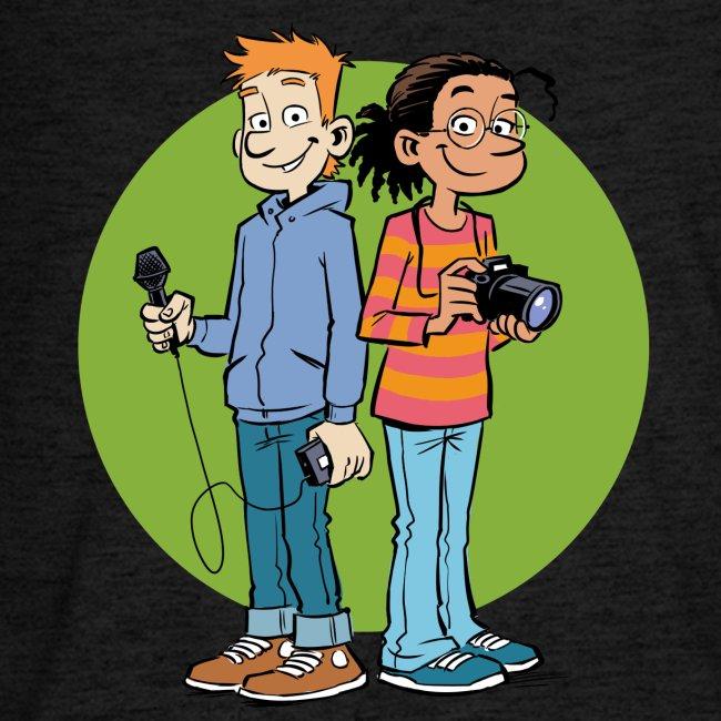 Teenager Premium Langarmshirt Reporter