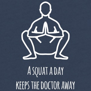 a squat a day keeps the doctor away - Teenager Premium Langarmshirt