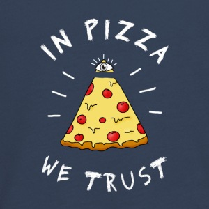 Pizza fastfood love eye pyramid Illuminati LOL - Teenagers' Premium Longsleeve Shirt