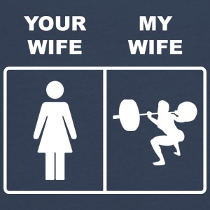 Your Wife My Wife Squats Lifting - Teenager Premium Langarmshirt