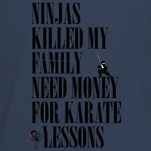Ninjas killed my family. - Teenagers' Premium Longsleeve Shirt