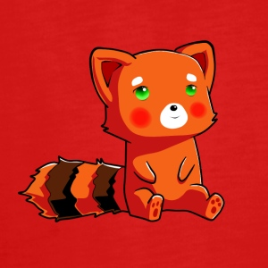 Orange racoon - Teenager Premium Langarmshirt