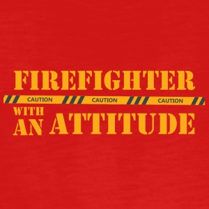 Fire Department: Firefighter with an Attitude - Teenagers' Premium Longsleeve Shirt