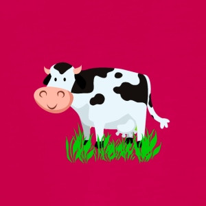 Vector Cartoon Cow - Teenager Premium shirt met lange mouwen