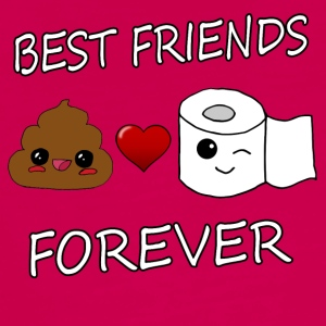 Poo en papier Best Friends Kawaii - Teenager Premium shirt met lange mouwen