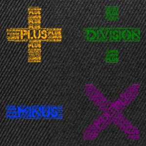 Plus Minus Multiply & Divison - Snapback Cap