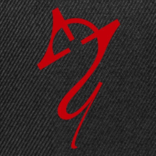 Overscoped logo red