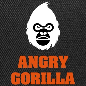 angry_gorilla_white - Snapback-caps
