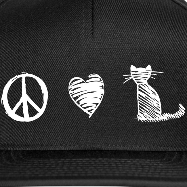 peace love cats - Snapback Cap