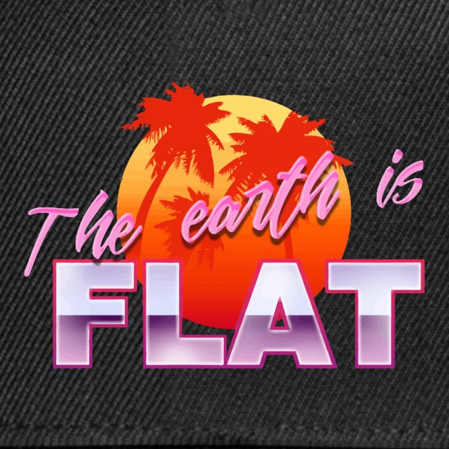 Vaporwave Flat earth