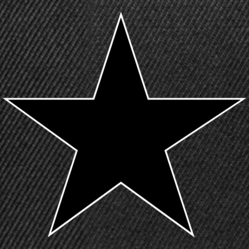 Anarchie Stern schwarz - Snapback Cap