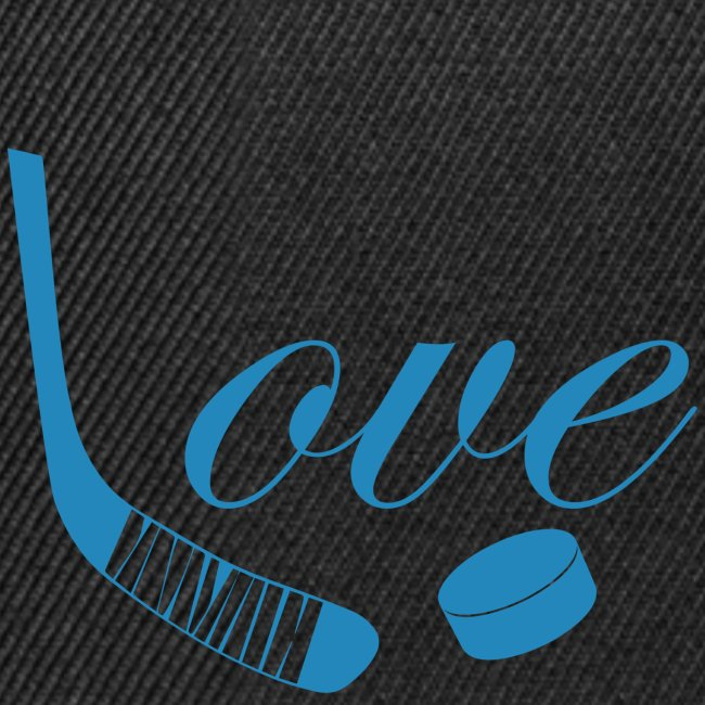 hockey love babyblue