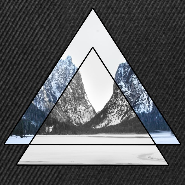 mountains geometric triangular landscape