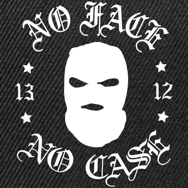 No Face, No Case - Skimask - valkoinen printti