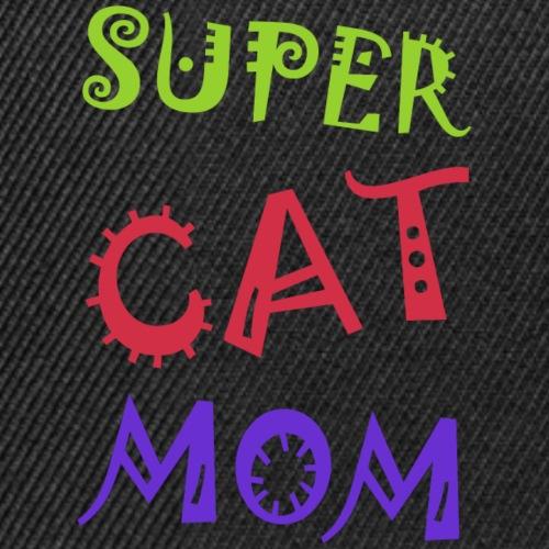 Super cat mom - Snapback cap