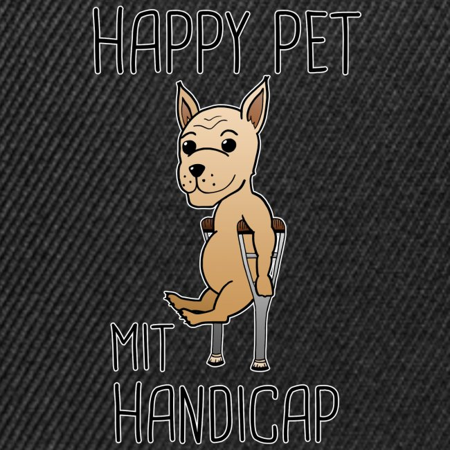 Hund Handicap Haustier Lustige Sprüche Geschenk Snapback Cap
