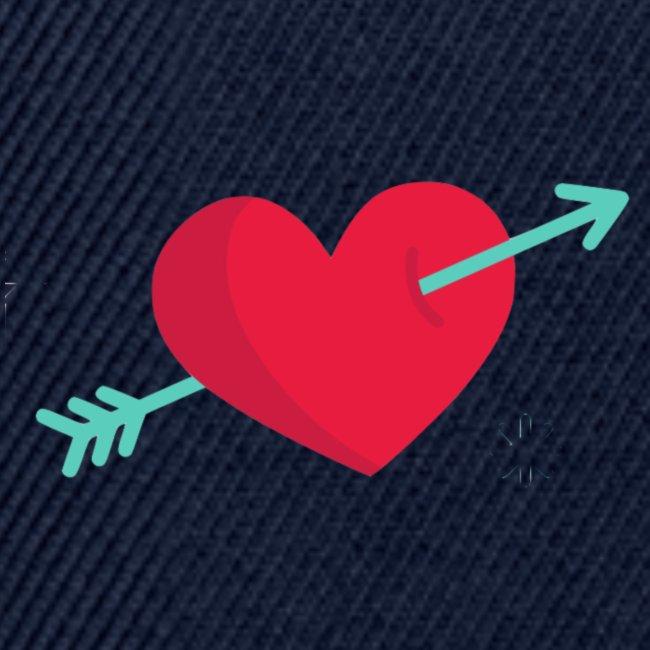 Corazón atravesado por una flecha