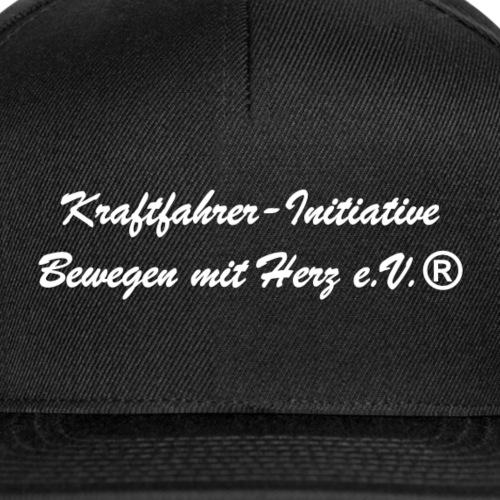 Kraftfahrer-Initiative Schriftzug Weiss - Snapback Cap