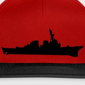 Vector Navy warship Silhouette - Casquette snapback