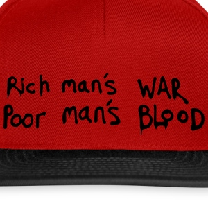 famous phrase about the rich and poor - Snapback Cap