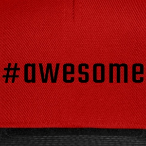 #awesome - Snapback Cap