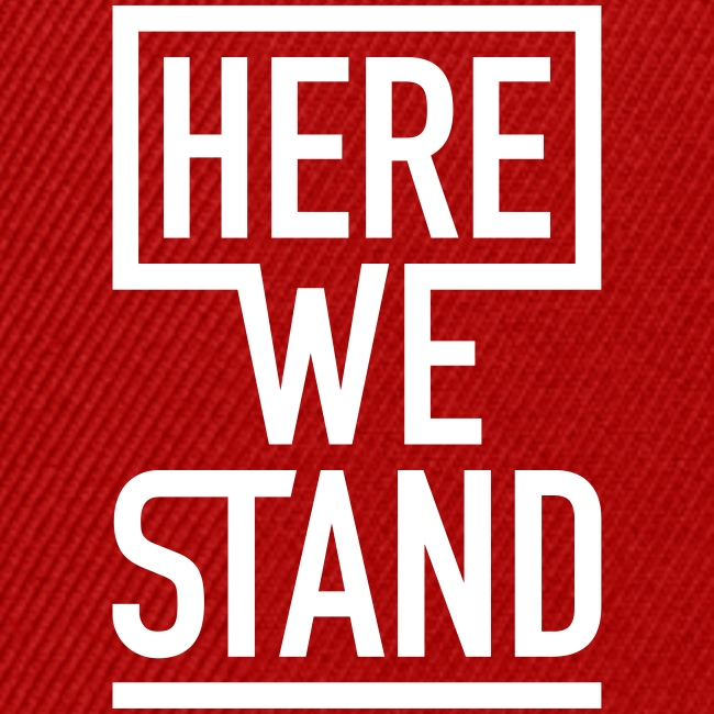 HERE WE STAND Logo
