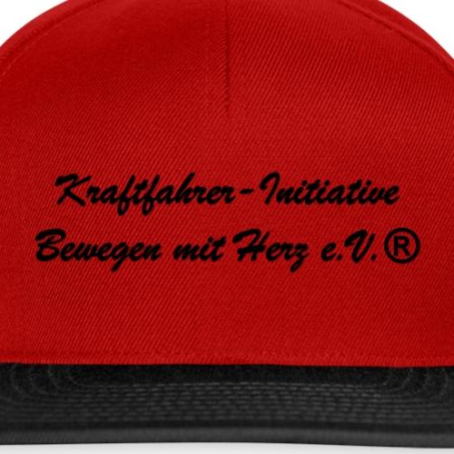 Kraftfahrer-Initiative Schriftzug schwarz - Snapback Cap