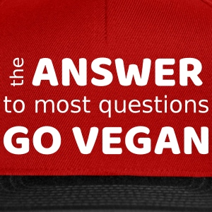 the answer - go vegan - Snapback Cap