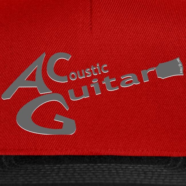Acoustic Guitar Logo - Gray