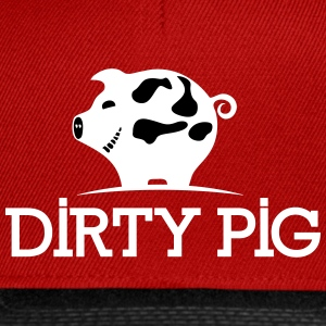 DIRTY_PIG_White - Snapback Cap