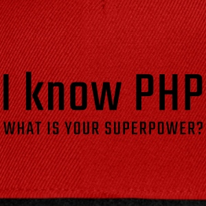 I know PHP - Snapback Cap