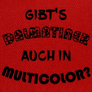 Gibt's Dalmatiner auch in multicolor? - Snapback Cap