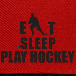 EAT SLEEP PLAY HOCKEY - Snapback Cap