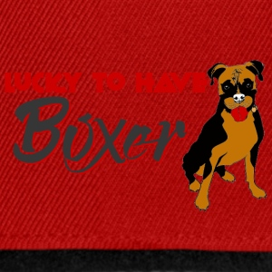 Hund / Boxer: Lucky To Have Boxer - Snapback Cap