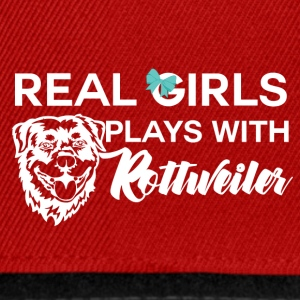 Dog / Rottweiler: Real Girls Plays With Rottweile - Snapback Cap