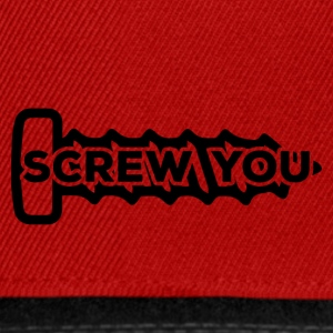 Mechaniker: Screw You - Snapback Cap