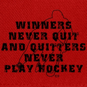 Hockey Winners Never Quit Quitters NEVER Play - Snapback Cap