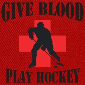 Hockey Give Blood Play Hockey - Snapback Cap