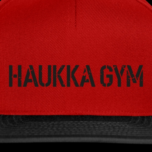 HAUKKA GYM roso text - Snapback Cap