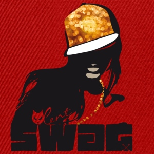 swag gold black woman rap gangster boss hot sexy - Snapback Cap