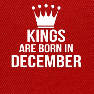 kings are born in december - Snapback Cap
