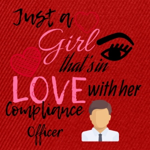 A girl who is in love with her compliance officer - Snapback Cap