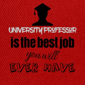 University professor is the best job you will have - Snapback Cap