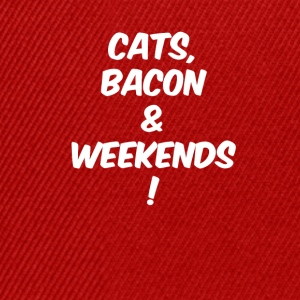 Cats bacon weekends white - Snapback Cap
