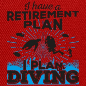 Retirement plan diving (dark) - Snapback Cap