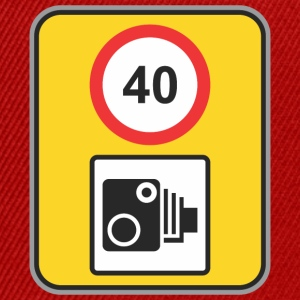 Road sign speed check 40 - Snapback Cap