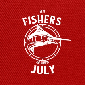 Present for fishers born in July - Snapback Cap